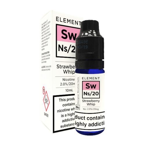 Element NS20 Nic Salt - Strawberry Whip 20mg - E liquid 10ml