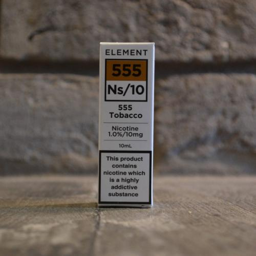 Element NS10 Nic Salt - 555 Tobacco 10mg - E liquid 10ml