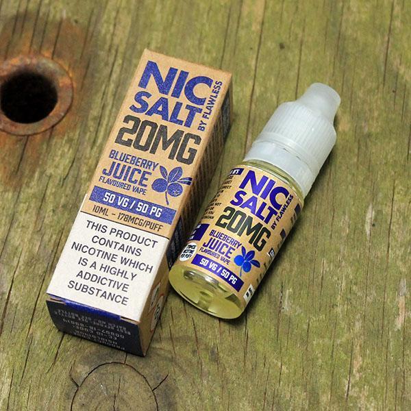 Flawless Nic Salt - Blueberry 20mg - E liquid 10ml