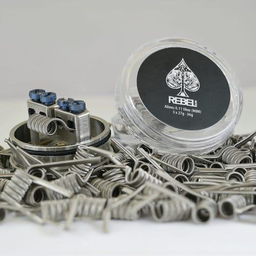 Rebel Coils 4 Pack - FUSED CLAPTONS 0.22 Ohms  (Handmade)