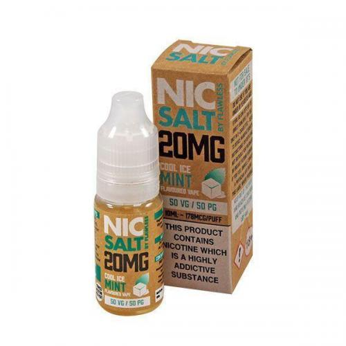 Flawless Nic Salt - Cool Ice Mint 20mg - E liquid 10ml