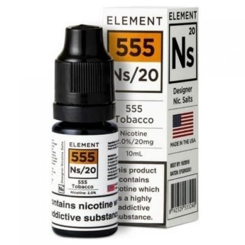 Element NS20 Nic Salt - 555 Tobacco 20mg - E liquid 10ml